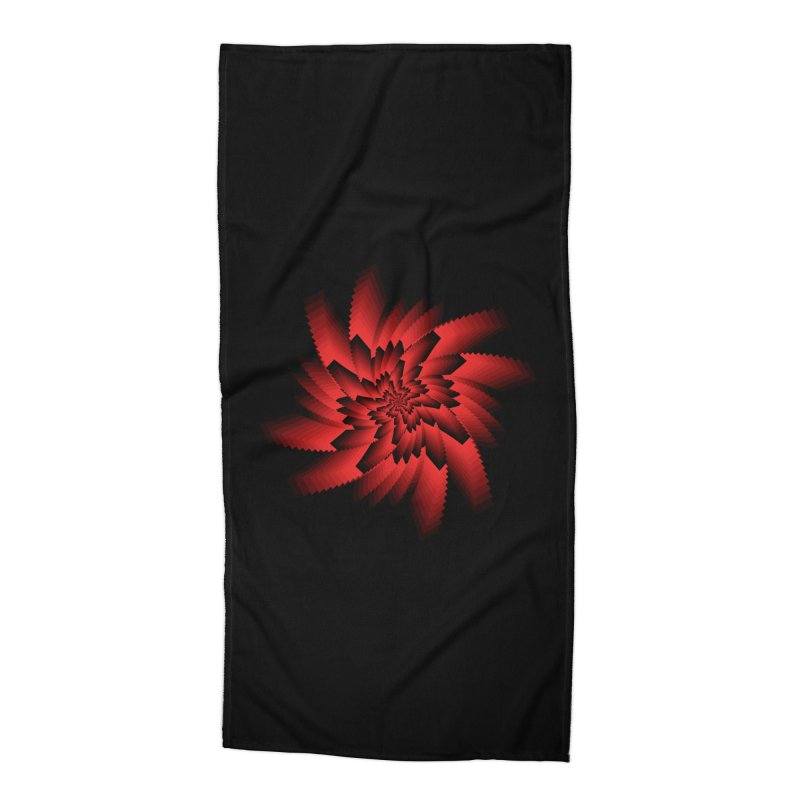Into the Red Eye Accessories Beach Towel by nickaker's Artist Shop