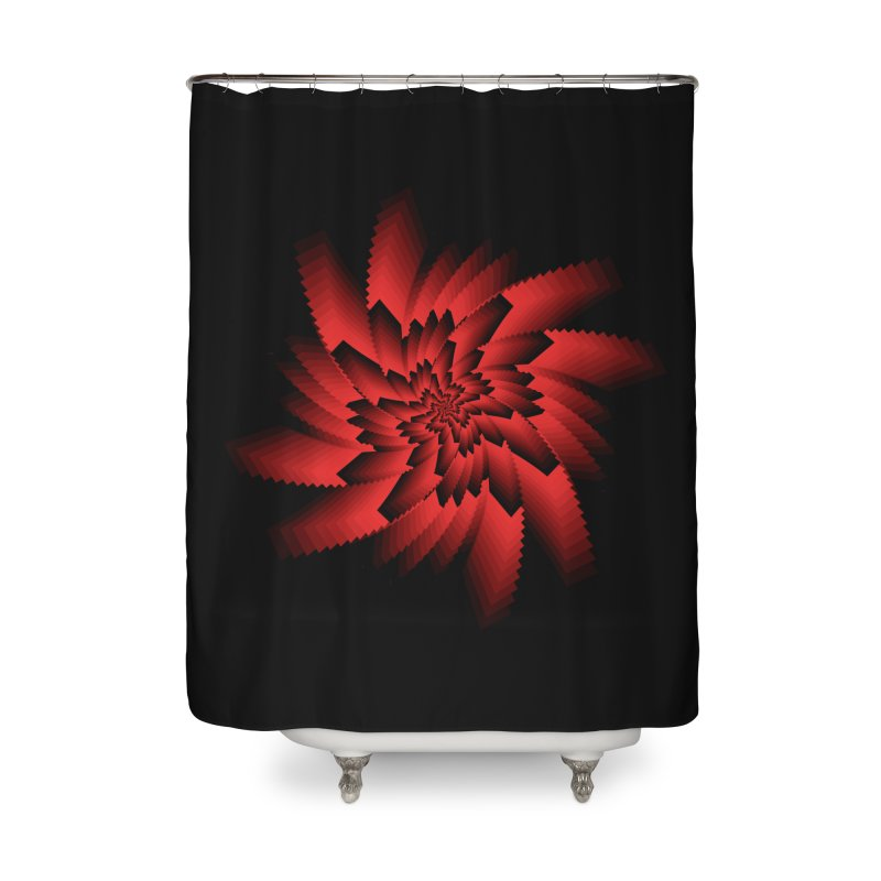 Into the Red Eye Home Shower Curtain by nickaker's Artist Shop