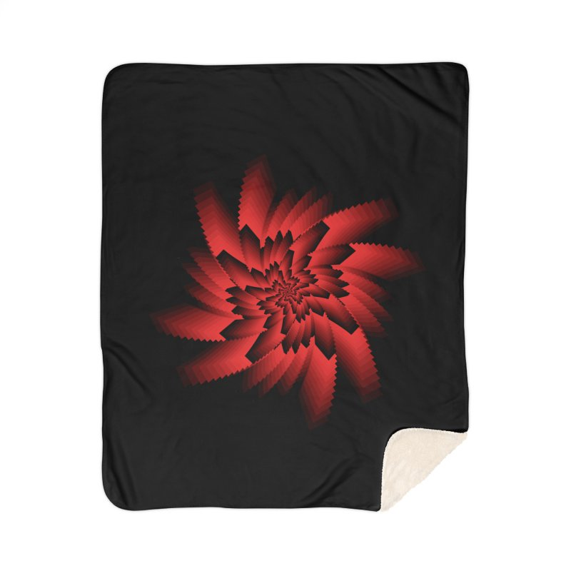 Into the Red Eye Home Sherpa Blanket Blanket by nickaker's Artist Shop