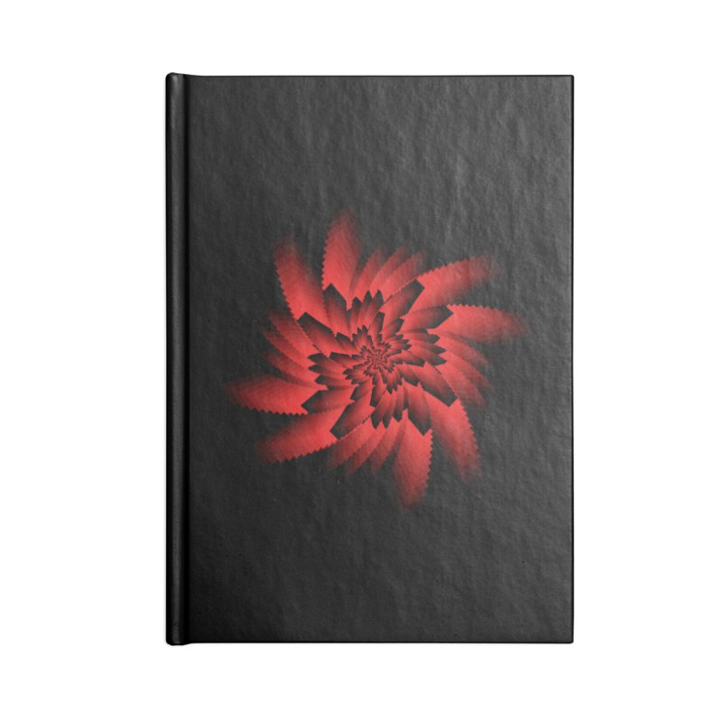 Into the Red Eye Accessories Lined Journal Notebook by nickaker's Artist Shop
