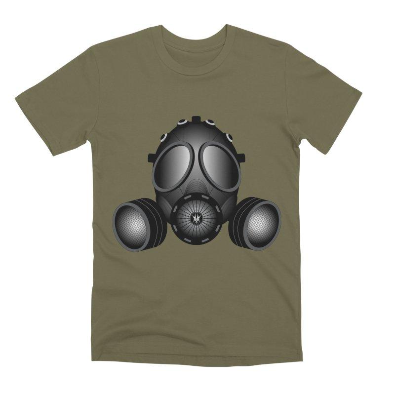 Gas Mask Men's Premium T-Shirt by nickaker's Artist Shop