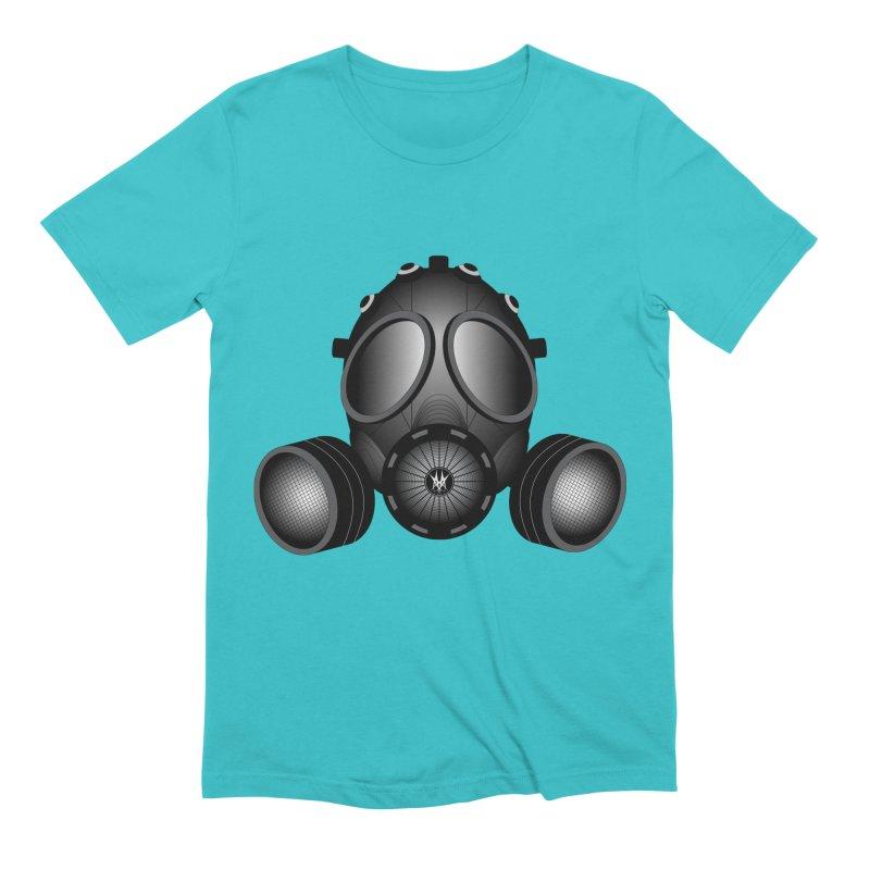 Gas Mask Men's Extra Soft T-Shirt by nickaker's Artist Shop