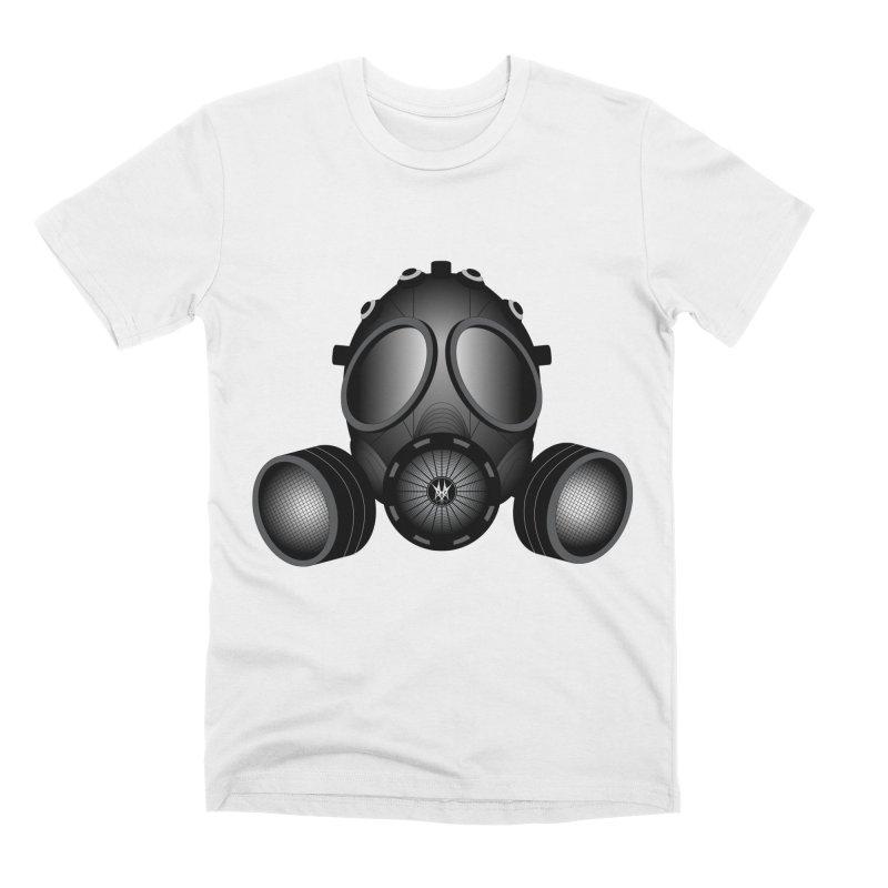 Gas Mask Men's T-Shirt by nickaker's Artist Shop
