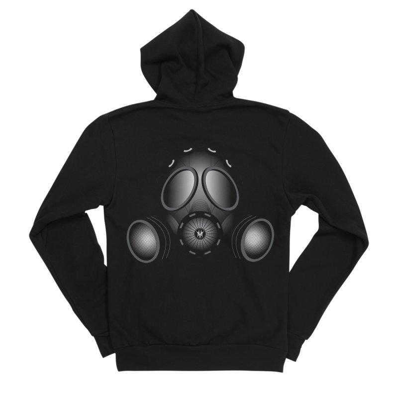 Gas Mask Men's Sponge Fleece Zip-Up Hoody by nickaker's Artist Shop