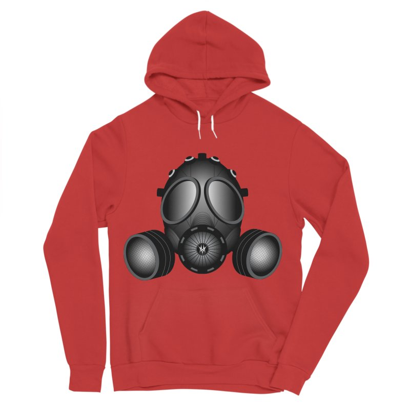 Gas Mask Women's Sponge Fleece Pullover Hoody by nickaker's Artist Shop