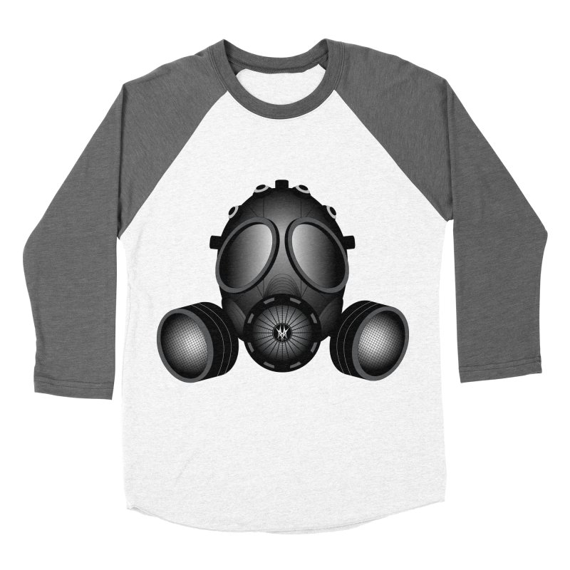 Gas Mask Women's Longsleeve T-Shirt by nickaker's Artist Shop