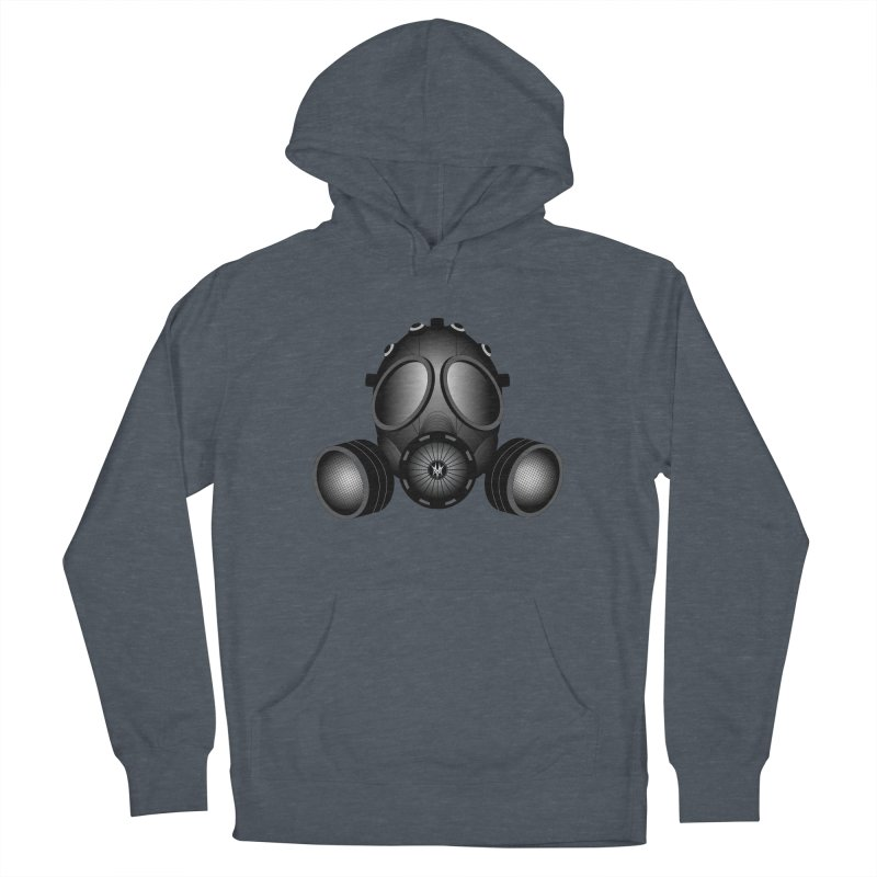 Gas Mask Men's French Terry Pullover Hoody by nickaker's Artist Shop