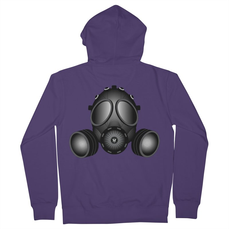 Gas Mask Women's French Terry Zip-Up Hoody by nickaker's Artist Shop
