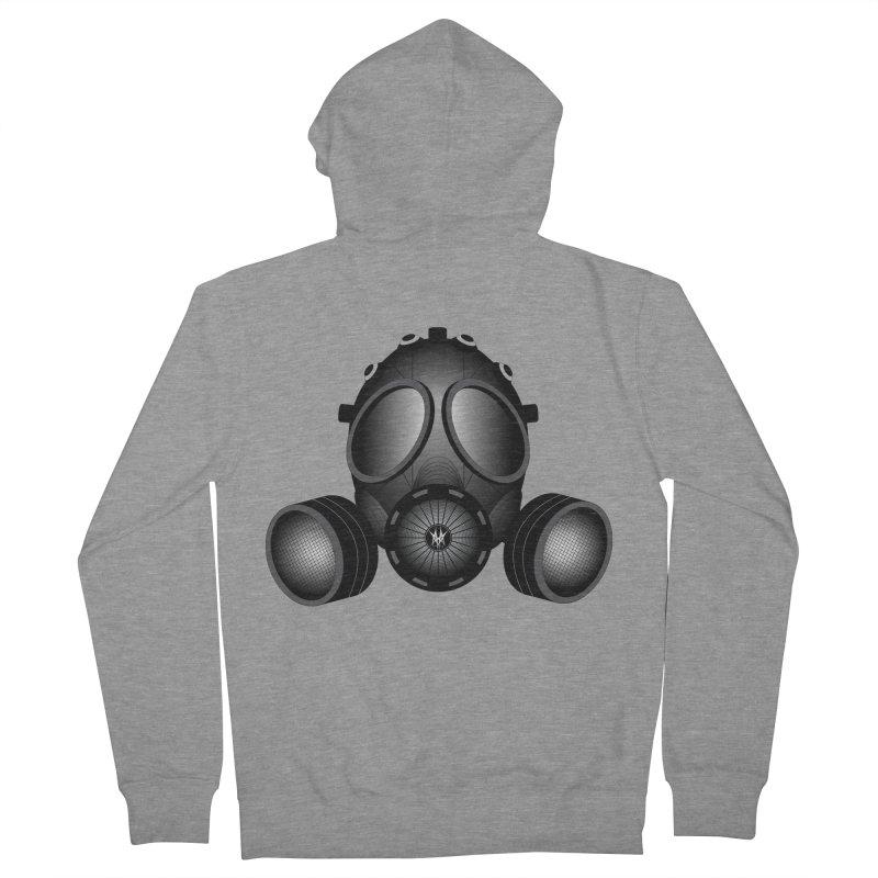 Gas Mask Men's Zip-Up Hoody by nickaker's Artist Shop