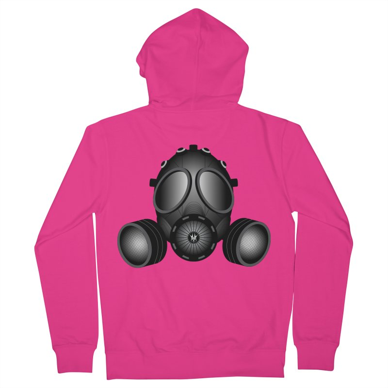 Gas Mask Men's French Terry Zip-Up Hoody by nickaker's Artist Shop
