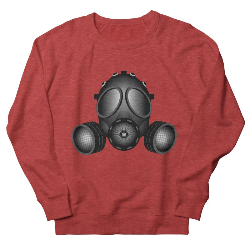 Gas Mask Women's French Terry Sweatshirt by nickaker's Artist Shop
