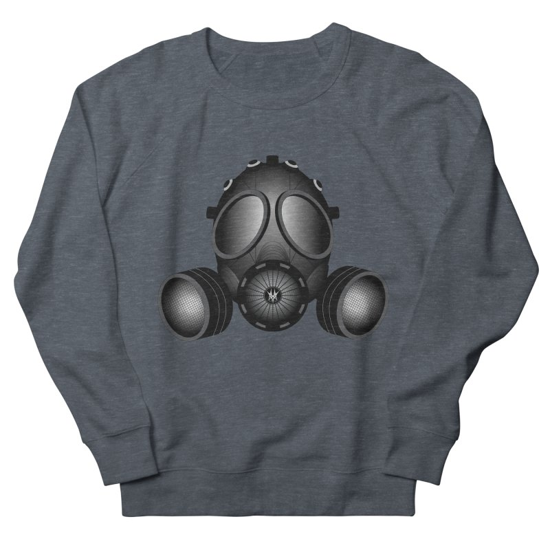 Gas Mask Men's French Terry Sweatshirt by nickaker's Artist Shop