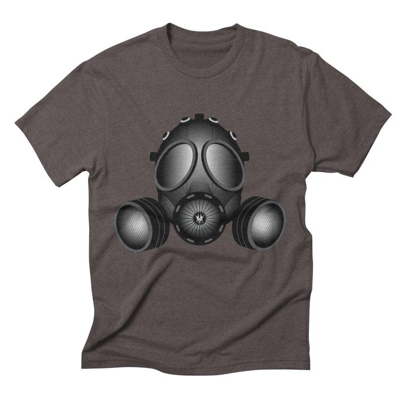 Gas Mask Men's Triblend T-Shirt by nickaker's Artist Shop