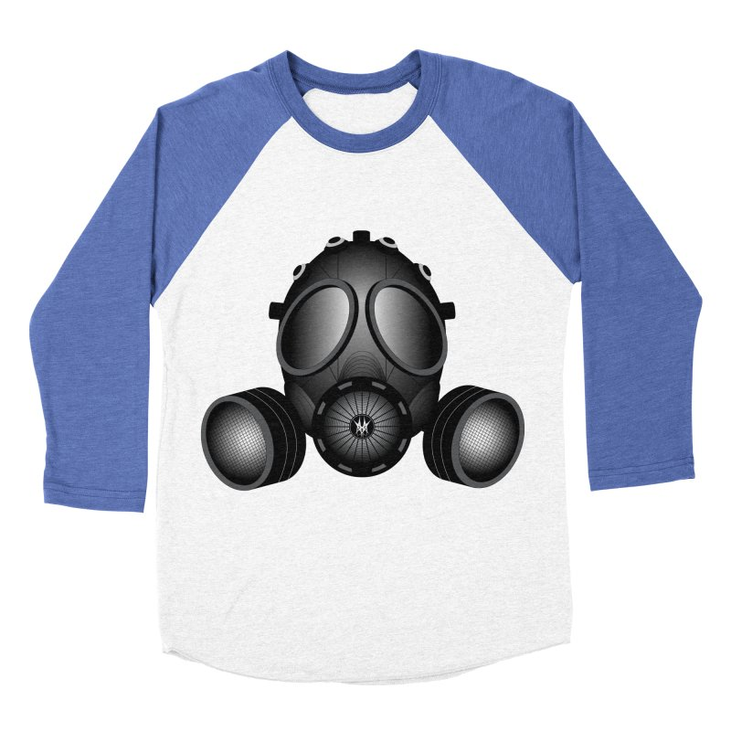 Gas Mask Women's Baseball Triblend T-Shirt by nickaker's Artist Shop
