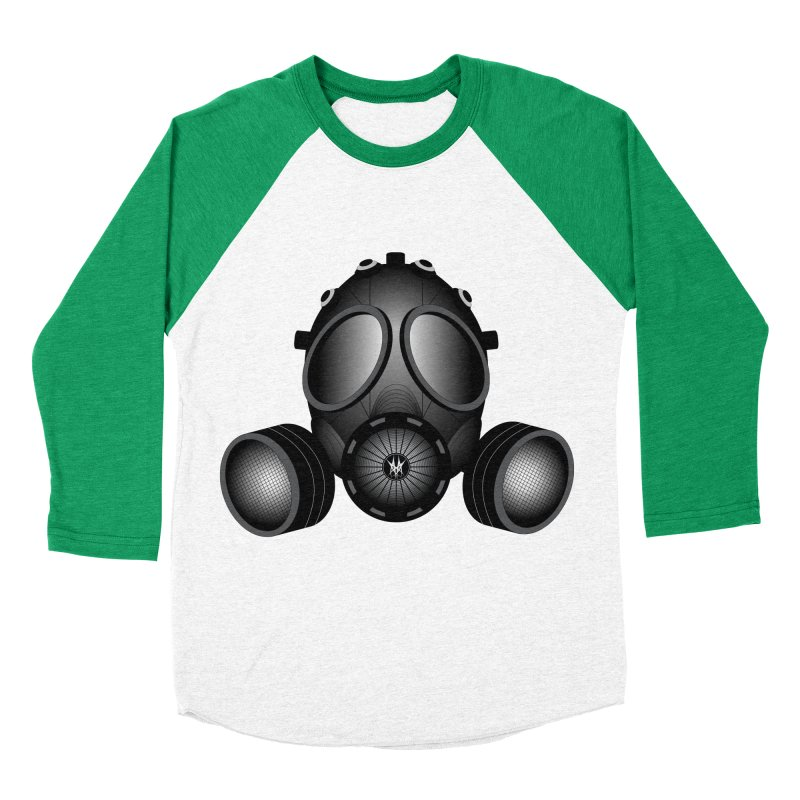 Gas Mask Women's Baseball Triblend T-Shirt by nickaker's Artist Shop