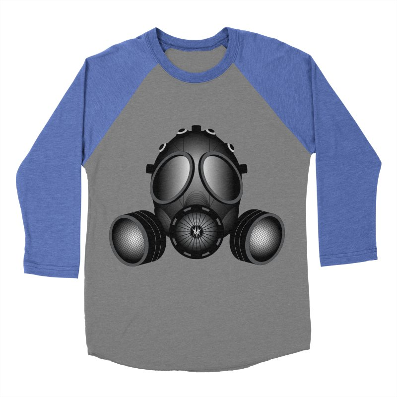 Gas Mask Men's Baseball Triblend Longsleeve T-Shirt by nickaker's Artist Shop