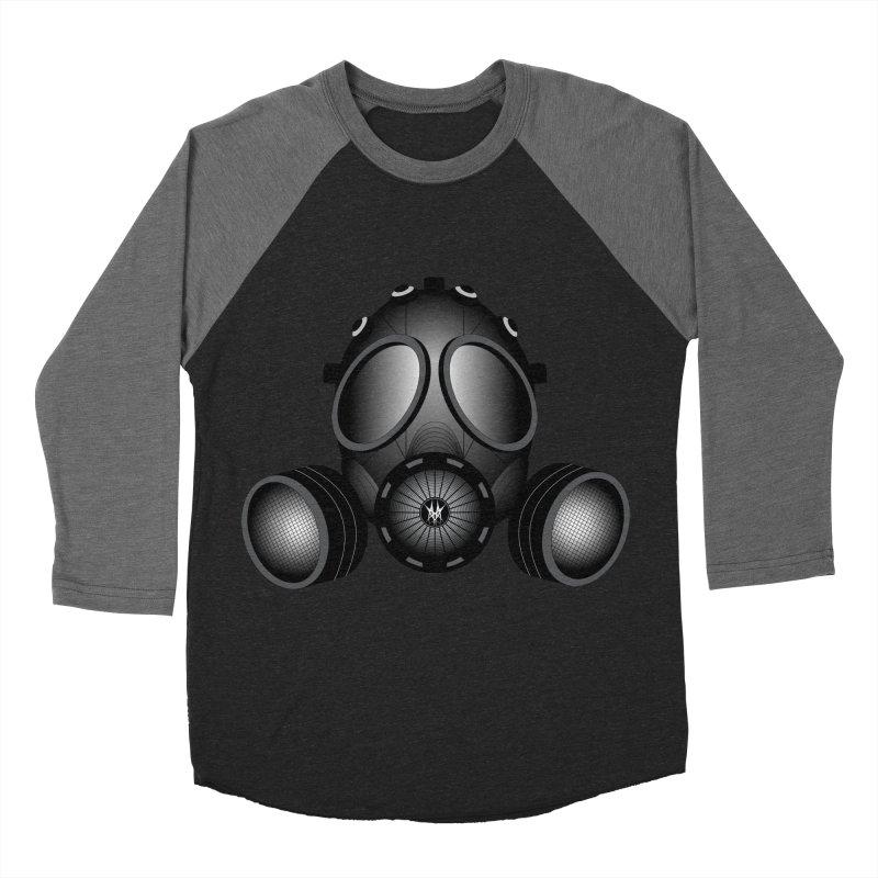 Gas Mask Men's Baseball Triblend T-Shirt by nickaker's Artist Shop