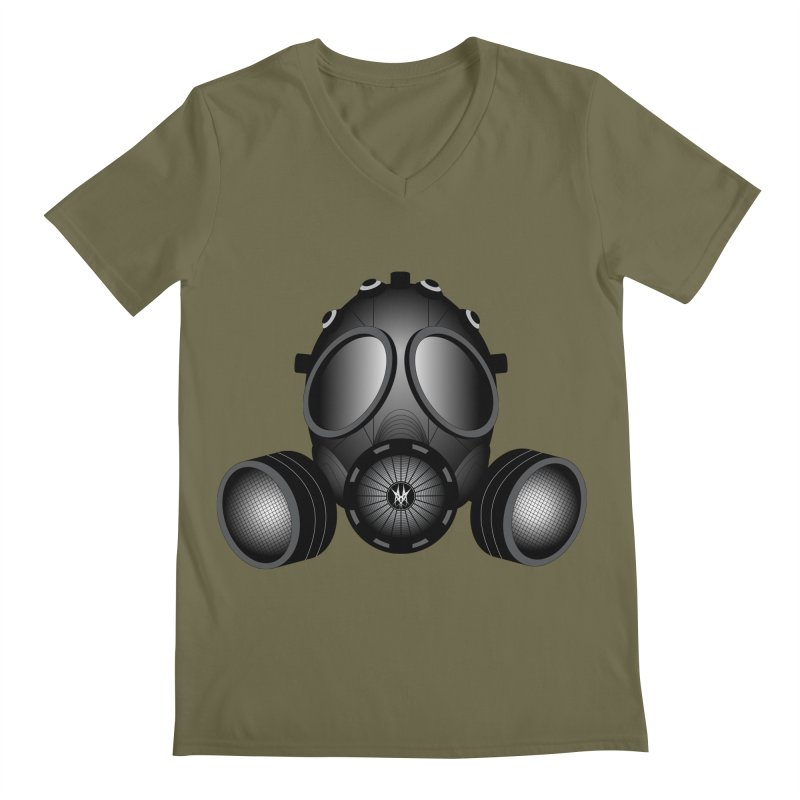 Gas Mask Men's Regular V-Neck by nickaker's Artist Shop