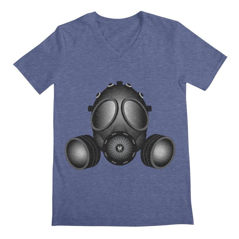 Gas Mask Men's Regular V-Neck by nickaker's Artist Shop