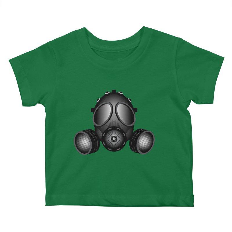 Gas Mask Kids Baby T-Shirt by nickaker's Artist Shop
