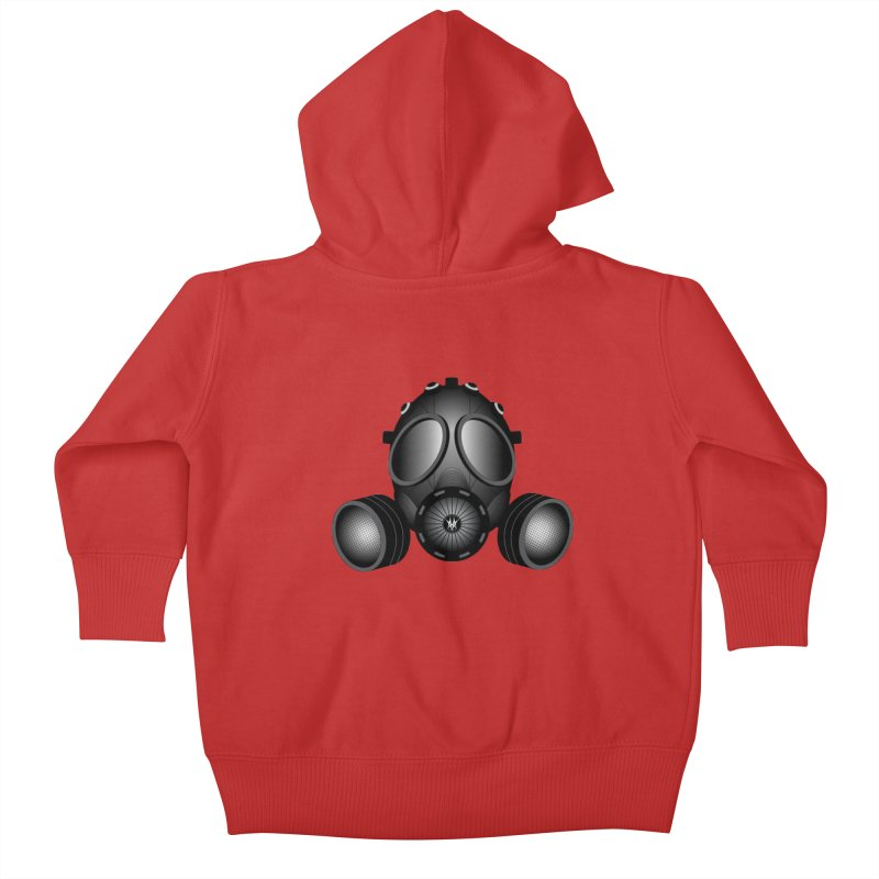Gas Mask Kids Baby Zip-Up Hoody by nickaker's Artist Shop