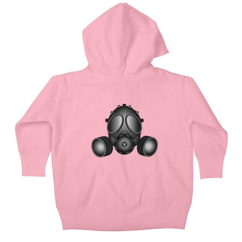 Gas Mask Kids Baby Zip-Up Hoody by nickaker's Artist Shop