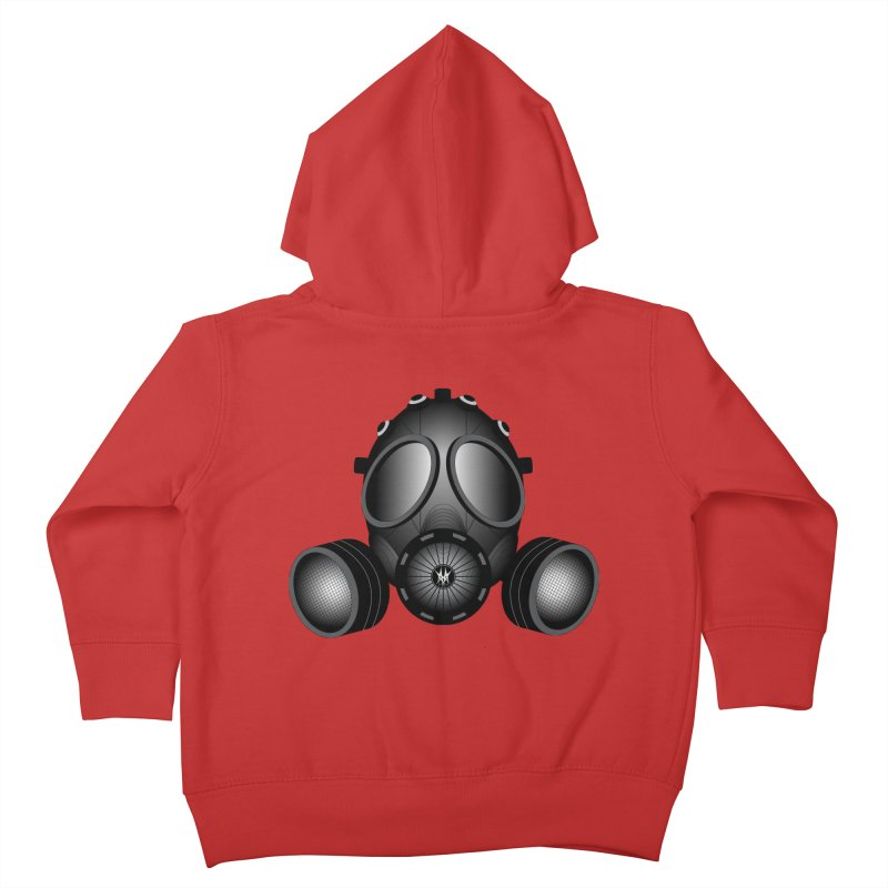 Gas Mask Kids Toddler Zip-Up Hoody by nickaker's Artist Shop