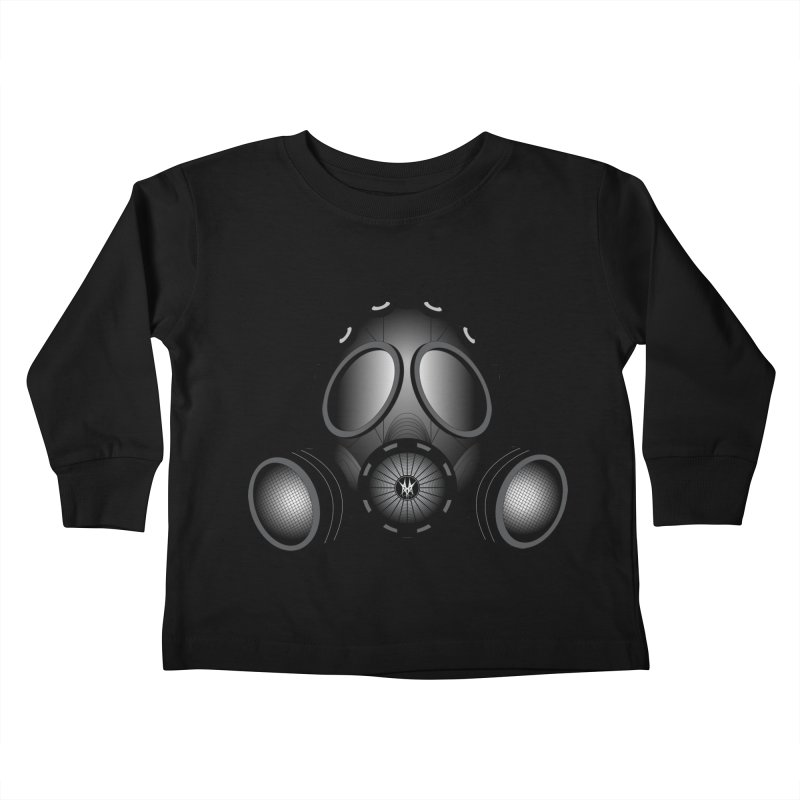 Gas Mask Kids Toddler Longsleeve T-Shirt by nickaker's Artist Shop