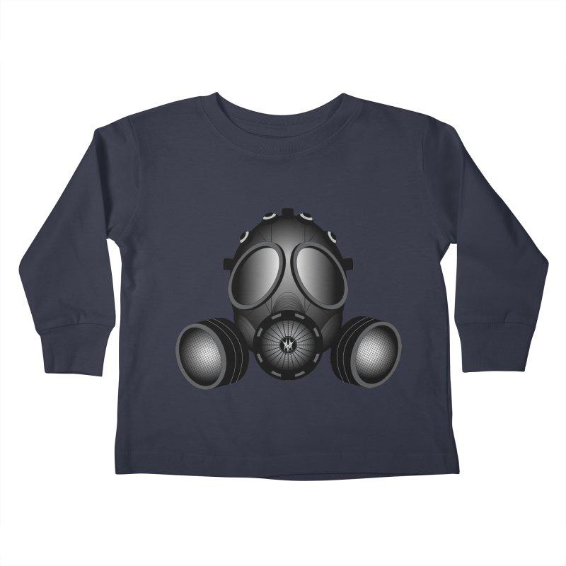 Gas Mask Kids Toddler Longsleeve T-Shirt by nickaker's Artist Shop