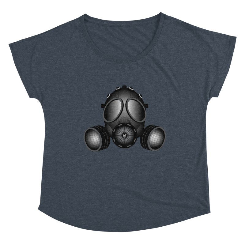 Gas Mask Women's Dolman Scoop Neck by nickaker's Artist Shop