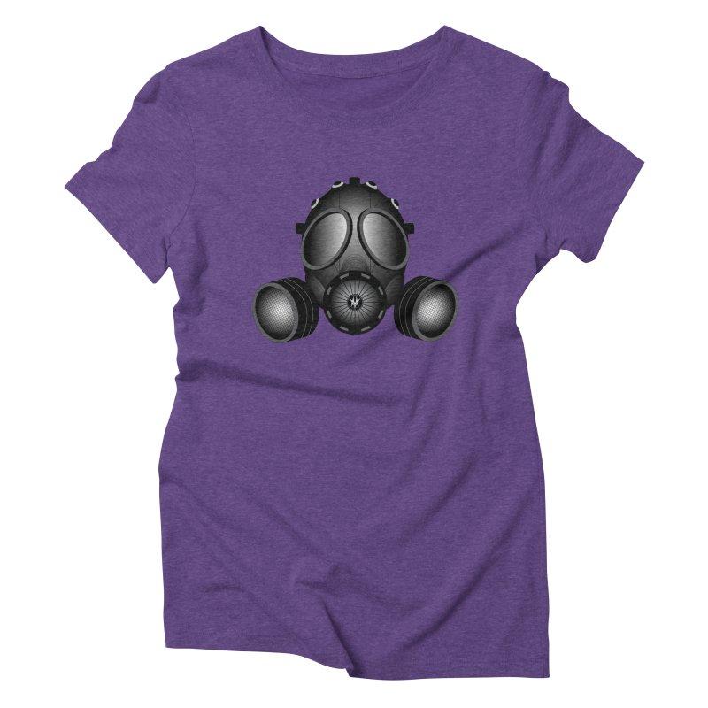 Gas Mask Women's Triblend T-shirt by nickaker's Artist Shop
