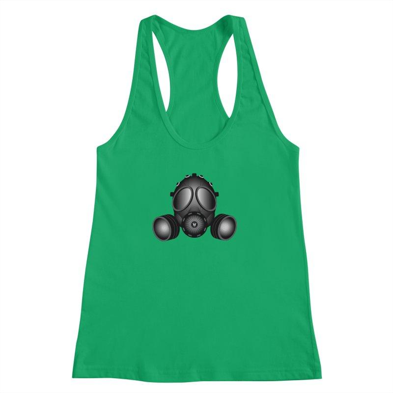 Gas Mask Women's Racerback Tank by nickaker's Artist Shop