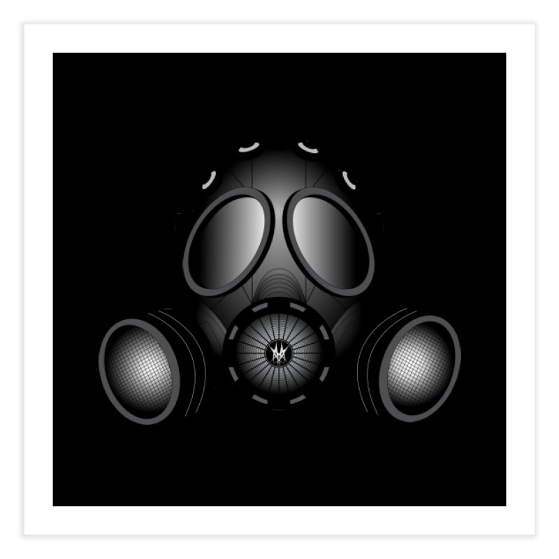 Gas Mask Home Fine Art Print by nickaker's Artist Shop