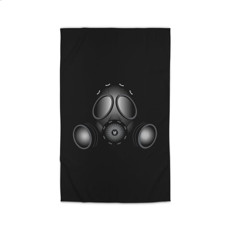 Gas Mask Home Rug by nickaker's Artist Shop