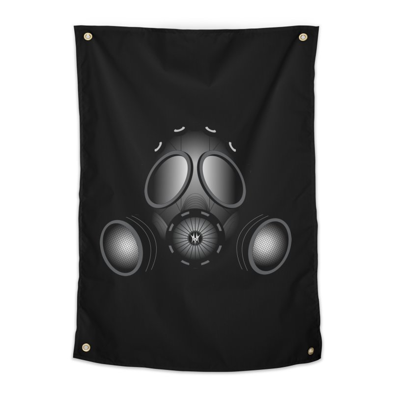 Gas Mask Home Tapestry by nickaker's Artist Shop