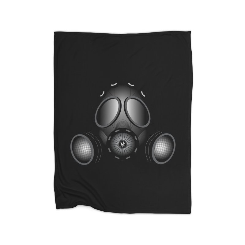 Gas Mask Home Fleece Blanket Blanket by nickaker's Artist Shop