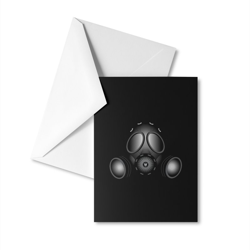 Gas Mask Accessories Greeting Card by nickaker's Artist Shop
