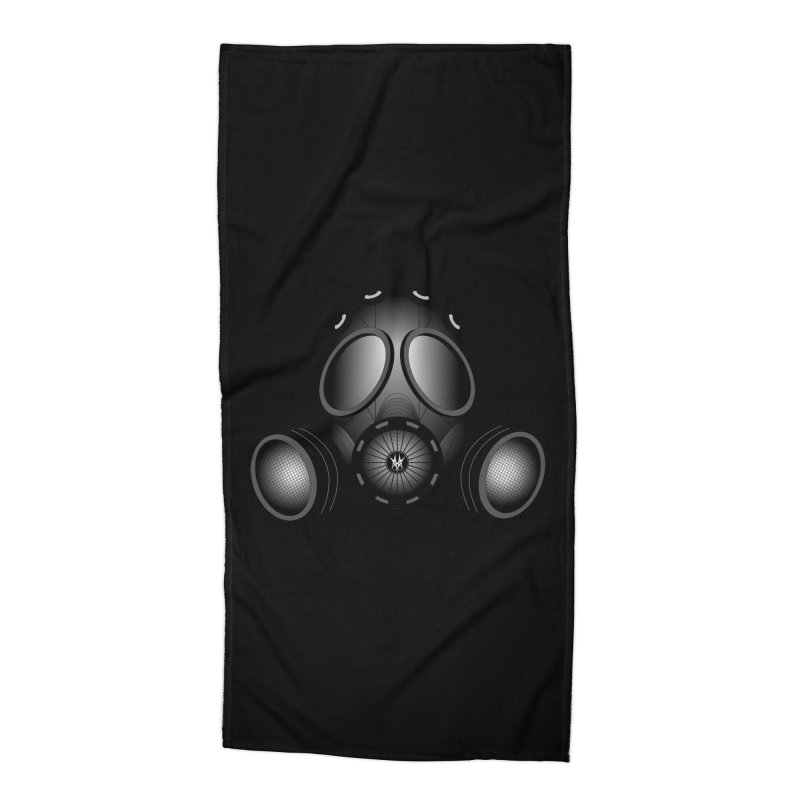 Gas Mask Accessories Beach Towel by nickaker's Artist Shop
