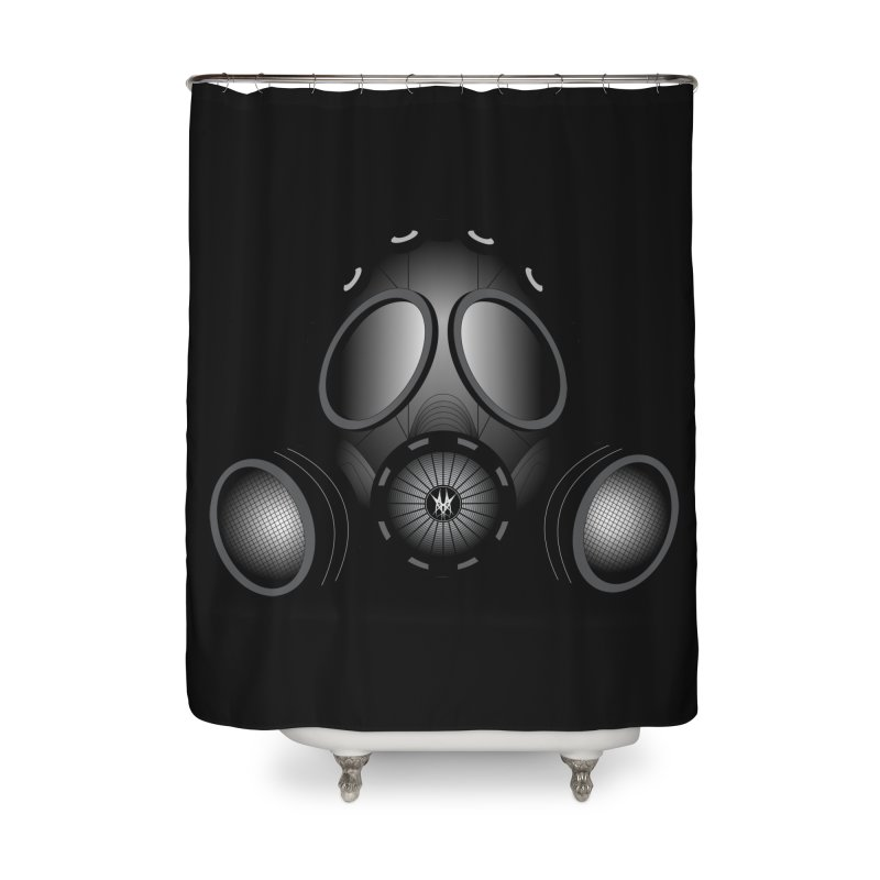 Gas Mask Home Shower Curtain by nickaker's Artist Shop