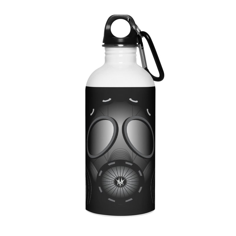 Gas Mask Accessories Water Bottle by nickaker's Artist Shop