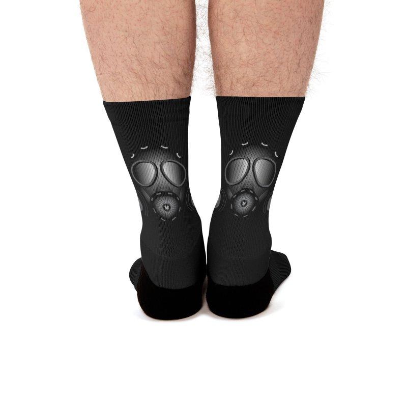 Gas Mask Men's Socks by nickaker's Artist Shop