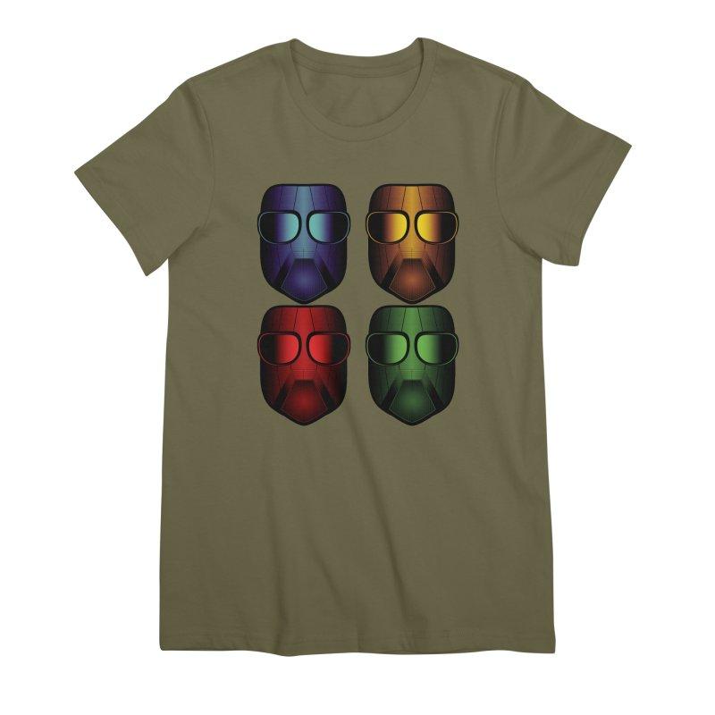 4 Masks Eins Women's Premium T-Shirt by nickaker's Artist Shop