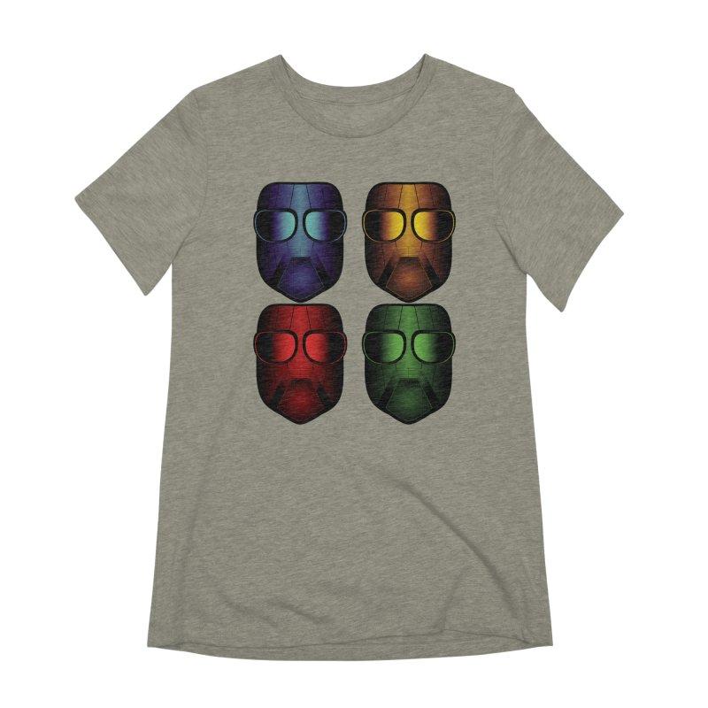 4 Masks Eins Women's Extra Soft T-Shirt by nickaker's Artist Shop