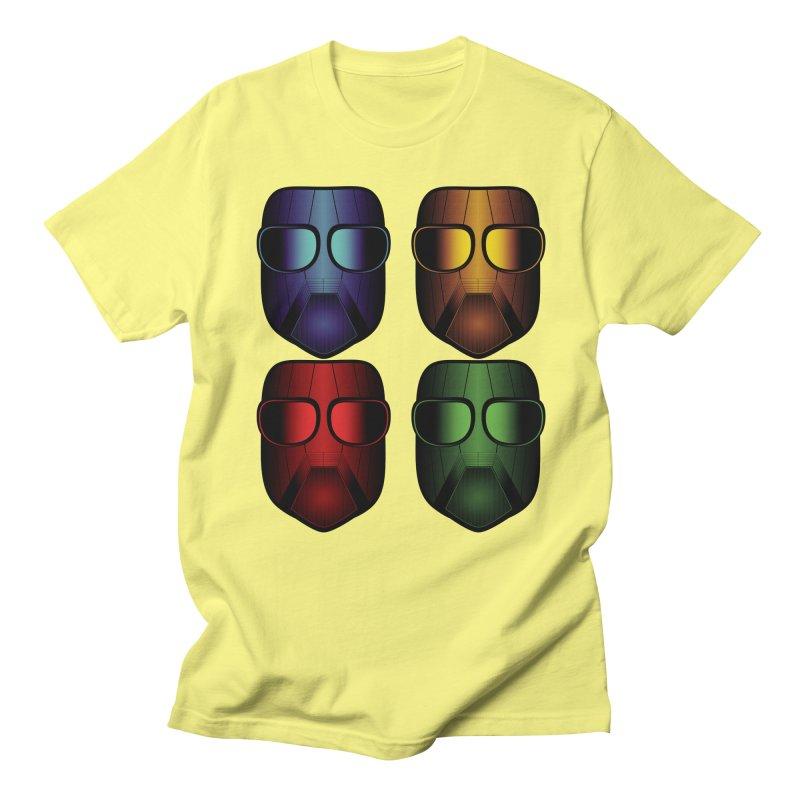 4 Masks Eins Men's T-Shirt by nickaker's Artist Shop