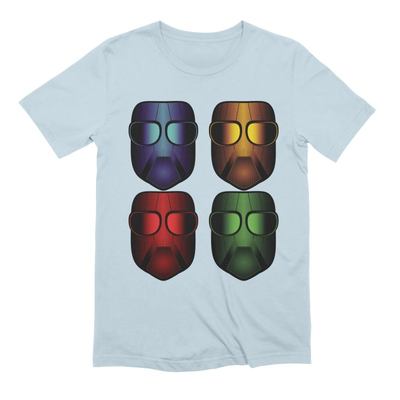 4 Masks Eins Men's Extra Soft T-Shirt by nickaker's Artist Shop