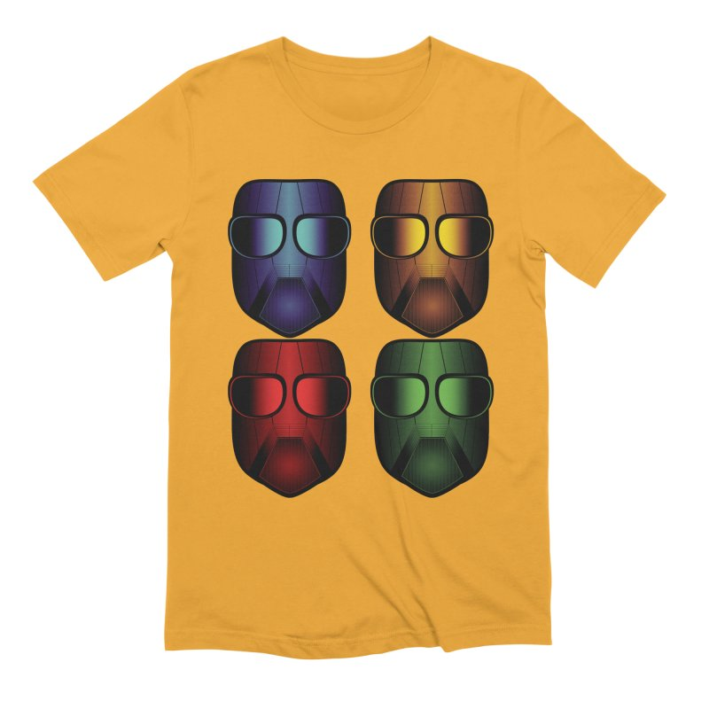 4 Masks Eins Men's Extra Soft T-Shirt by nickaker's Artist Shop