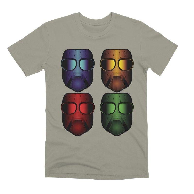 4 Masks Eins Men's Premium T-Shirt by nickaker's Artist Shop