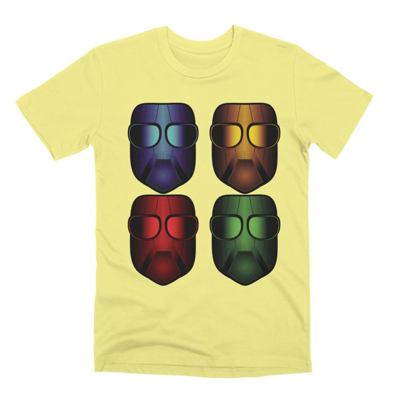 4 Masks Eins Men's Premium T-Shirt by nickaker's Artist Shop