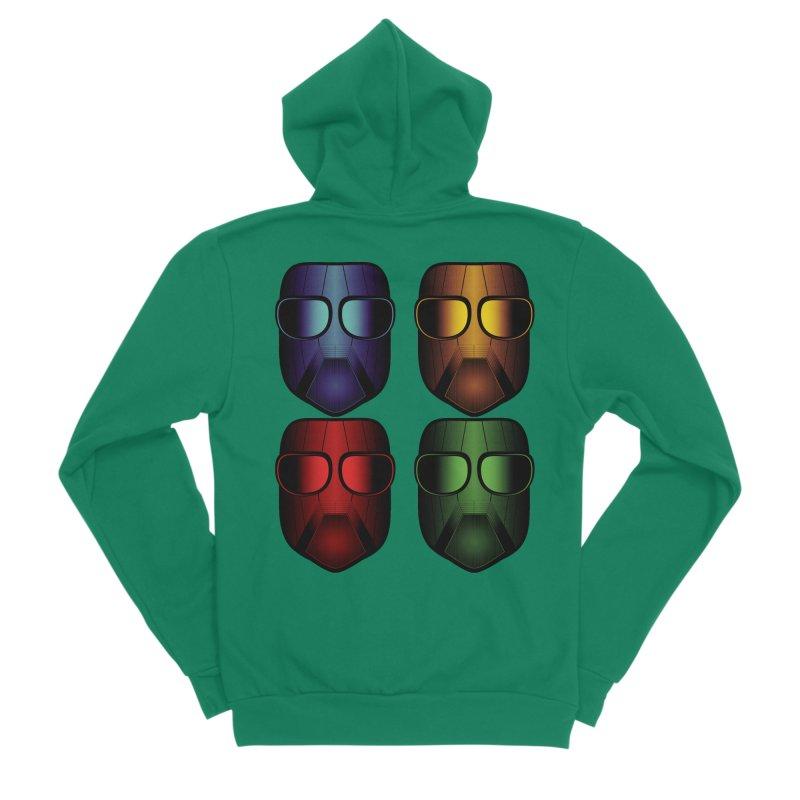 4 Masks Eins Men's Sponge Fleece Zip-Up Hoody by nickaker's Artist Shop