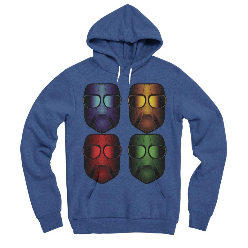 4 Masks Eins Men's Sponge Fleece Pullover Hoody by nickaker's Artist Shop